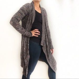 American Eagle Outfitters Long Waterfall Cardigan